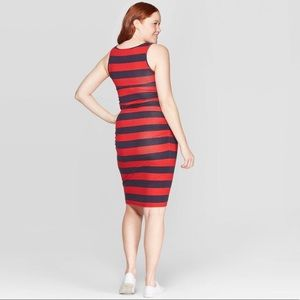 NWT striped red and blue tank dress